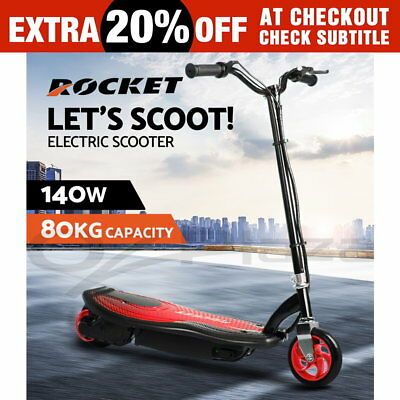 ROCKET Kids Electric Scooter 140W Children Toy Battery Blue Boys Girls Ride Red