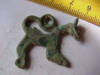 Ancient Bronze Casting Beautiful Pendant, In Form of Horse !!!