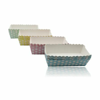 Pastel Polka Dot Food Snack Boxes Card Summer Party Strawberry Containers Trays