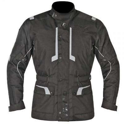 Akito Terra Waterproof Motorcycle Textile Adventure Jacket - Black - SALE