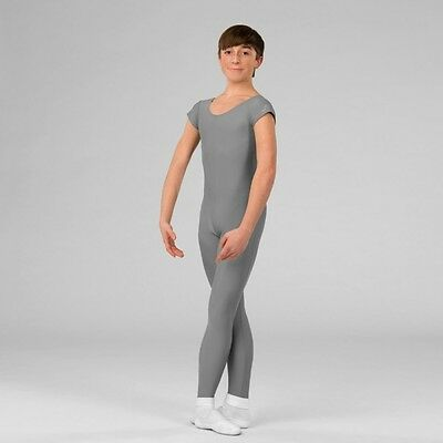 Mens ABT Grey Ballet Dance Stirrup Unitard