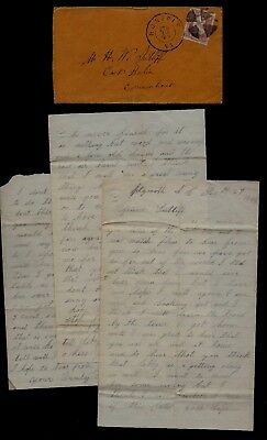 16th Connecticut Infantry CIVIL WAR LETTER Captured by Rebels at Battle Plymouth