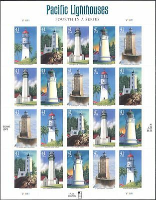 USA 2006 Pacific Lighthouses/Maritime Safety/Architecture/Buildings sht (n17384)
