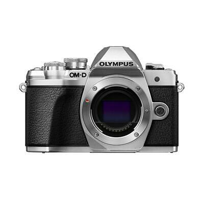 Olympus OM-D E-M10 Mark III Mirrorless Camera Body, Silver #V207070SU000