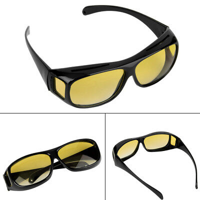 The Real Wrap Arounds Fit Over HD Night Optic Vision Driving Anti Glare Glasses