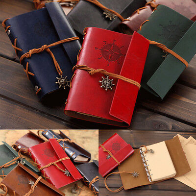 Vintage Classic Belt Journal Travel Leather Notepad Notebook Blank Diary Memo