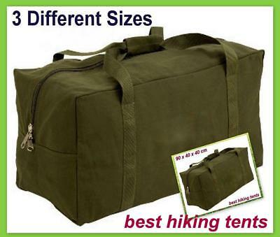 Heavy Duty H.D Canvas Duffle Carry Bag Travel Luggage Duffel Tote G.I Tool 3Size