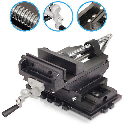 "6"" 150mm HEAVY DUTY CROSS SLIDE GARAGE BENCH MILLING DRILL PRESS X-Y VICE CLAMP"