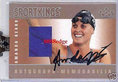 2007 Sport Kings Swatch Auto: Amanda Beard /40 Autograph Silver Olympic Gold