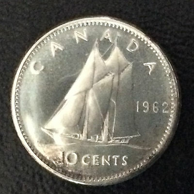 1962 Canada Ten Cents Proof-Like Silver Canadian Coin A5249