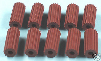 New Eagle Toys Brown Table Top Hockey Game Knobs (10)