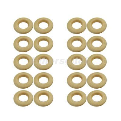 20pcs Unfinished Round Wooden Ring Loop for Jewelry Making Kids Crafts 25mm