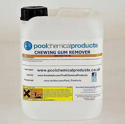 Hot Tub Suppliers 5,10 Litres Chewing Gum Remover FREE P&P