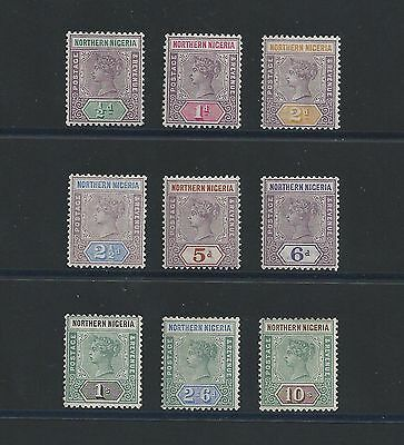 Northern Nigeria 1900 SG1-9, QV Complete Set to 10/- Shillings Mint!!!