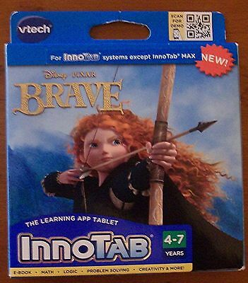 Vtech InnoTab Disney Pixar Brave The Learning APP TabletGame  - Free Shipping