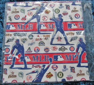 Unopened 2 Sheets of MLB Baseball Gift Wrap by Hallmark