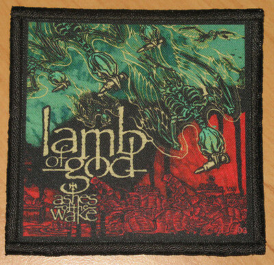 """LAMB OF GOD """"ASHES OF THE WAKE"""" silk screen PATCH"""