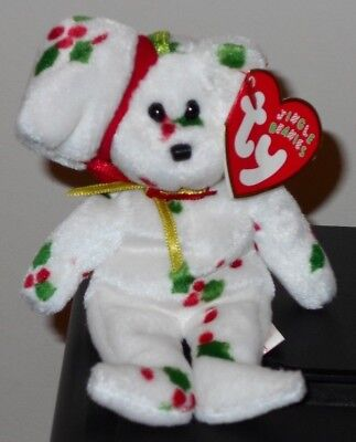 "NMT* Ty Jingle Beanie Baby ~ 1998 HOLIDAY TEDDY the (5"") Bear ~ MINT with NM TAG"