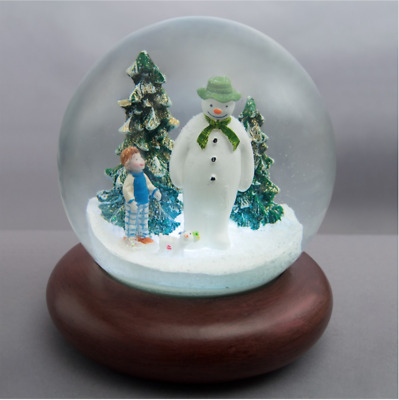 The Snowman and The Snowdog Snow Globe with LED's & Music Christmas Water Ball