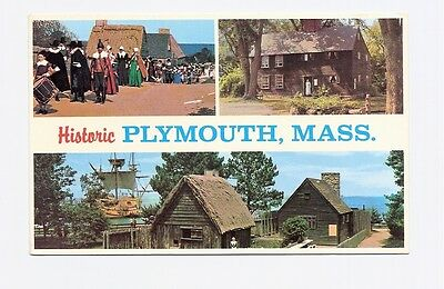 Postcard: Historic Plymouth, Massachusetts - Multiview