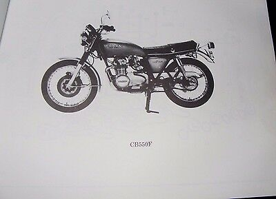 Honda Cb550F  Part List Manual