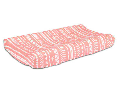 The Peanut Shell Baby Changing Pad Cover - Woodland/Coral