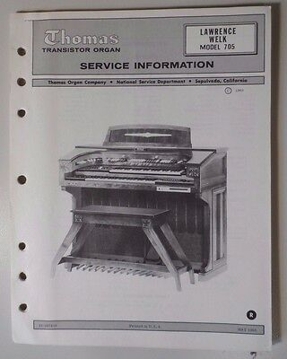 Original Thomas Organ Service Information - Bel-Air Delux Model 556T