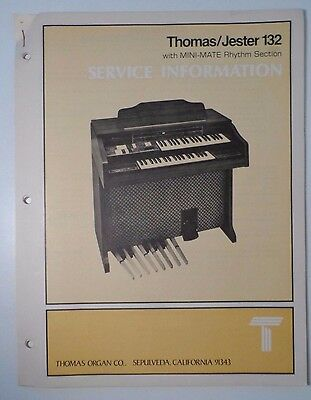Original Thomas Organ Service Manual Jester 132 w/ MINI-MATE Rhythm Section