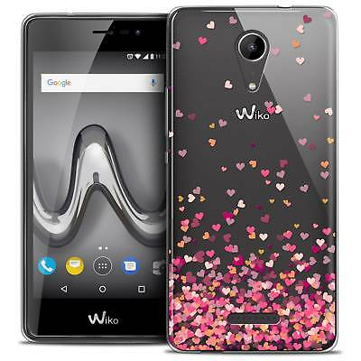 """Coque Crystal Gel Wiko Tommy 2 (5"""") Extra Fine Souple Sweetie Heart Flakes"""