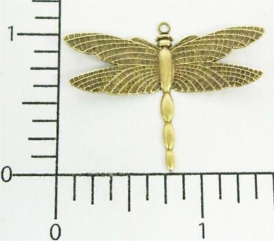 34393         2 Pc. Brass Oxidized Victorian Dragonfly Charm Finding
