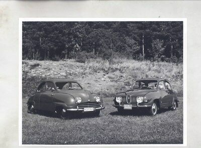 1950 Saab 92 & 1971 96 ORIGINAL Factory Photograph wy6167