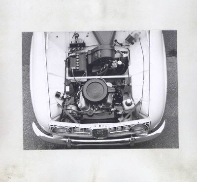 1968 ? Saab 96 & Engine ORIGINAL Factory Photograph wy6186