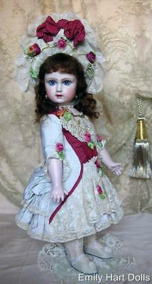 Tete Jumeau porcelain doll dressed in Antique laces Mary Lambeth costume