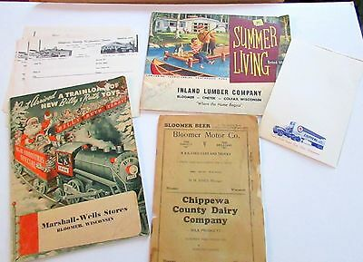 Collection of Bloomer Wisconsin Items - T@ke a L@@k!
