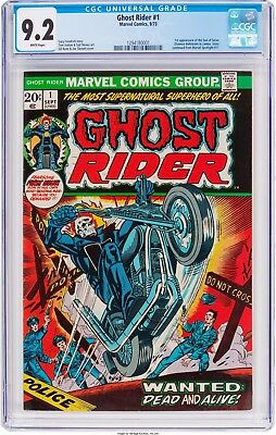 Ghost Rider 1 - Cgc 9.2 - 1St Appearance Son Of Satan - Daimon Hellstrom (1973)