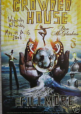 CROWDED HOUSE FILLMORE POSTER McGlashan Original Bill Graham BGF946 Craig Howell