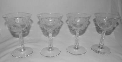 4 Libbey Rock Sharpe Classic 3007 Stem Liquor Cocktail Glasses Set Free Ship