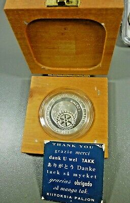 GIBRALTAR - 1991 SILVER 1 CROWN PROOF Preserve Planet Earth Presentation Box COA