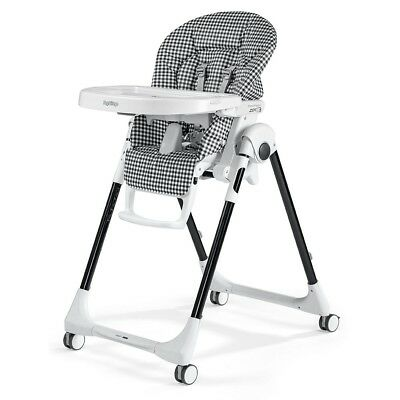 Peg Perego - Prima Pappa Zero3  Highchair- Gingham Black