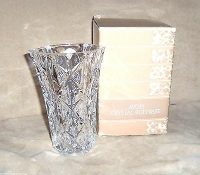 "Avon Bud Vase France Cristal 24% Lead Crystal 5"" tall"
