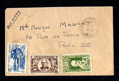 17288-INDOCHINA-AIRMAIL COVER SAIGON to FRANCE.1948.WWII.Indochine.