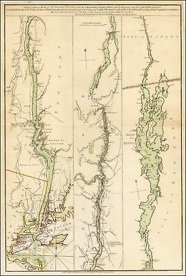 1776 Topographical Map Hudson's River Lake George-Lake Champlain POSTER 42586
