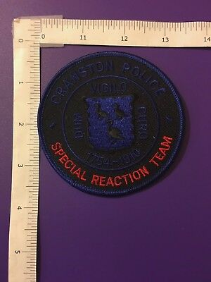 Cranston Rhode Island Police Special Reaction  Team  Shoulder Patch