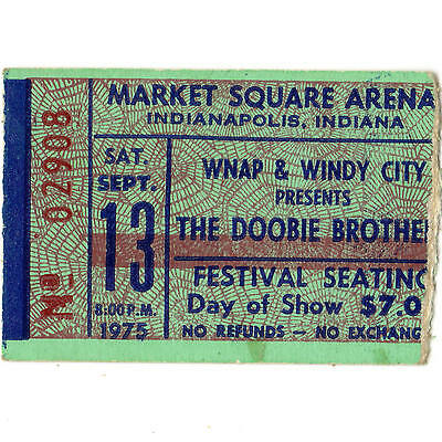 DOOBIE BROTHERS & OUTLAWS Concert Ticket Stub INDY 9/13/75 MICHAEL McDONALD Rare