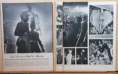 1942 three page magazine photo article - Life goes to a Ball in Harlem, costumes
