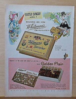 1953 magazine ad for Whitman Chocolates - Remember her with Easter candy