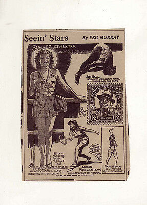 Seein' Stars by Feg Murray - scarce 1938 Stamp #182 Ned Sparks plus Ann Sheridan