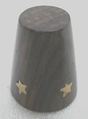 Vintage Collectible Souvenir Thimble Wood with Gold Stars