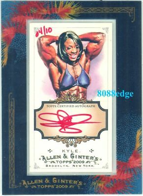 """2009 ALLEN & GINTER RED INK AUTO: IRIS KYLE #4/10 AUTOGRAPH """"Ms.OLYMPIA"""""""