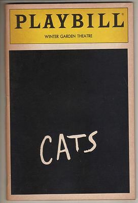 """Cats""  Playbill 1985  Broadway   Laurie Beechman, Kevin Marcum, Bonnie Simmons"